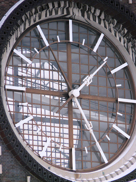 Church of the Sacred Heart, Prague, detail of clock