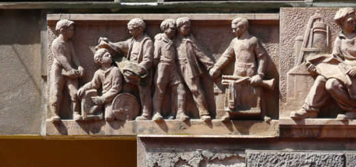 Soviet realism bas-relief