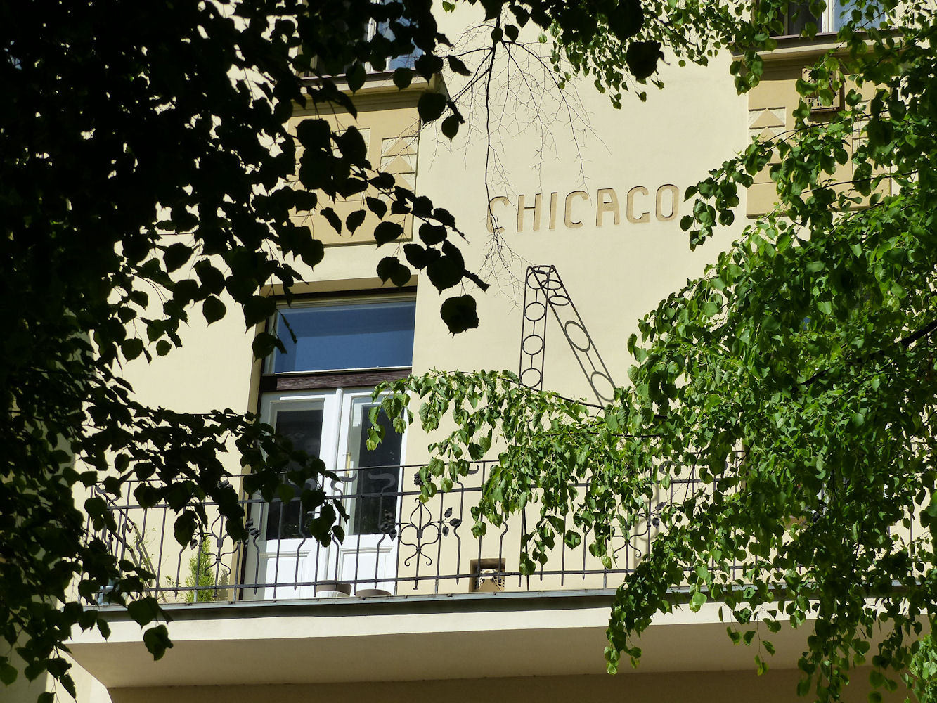 art nouveau balcony, Prague