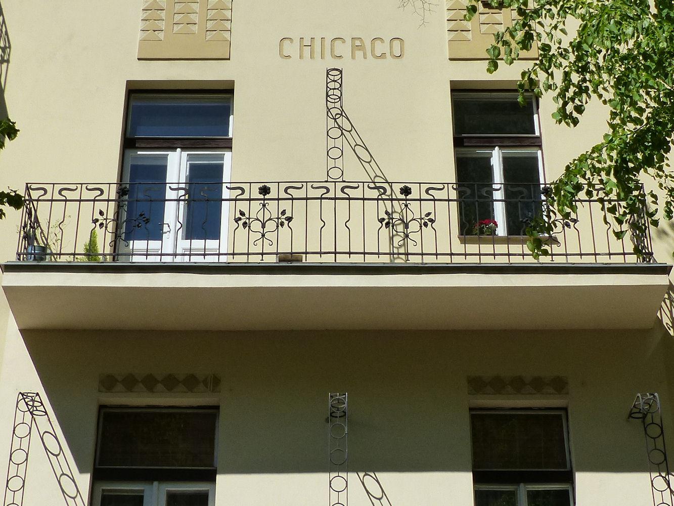 art nouveau facade, Prague