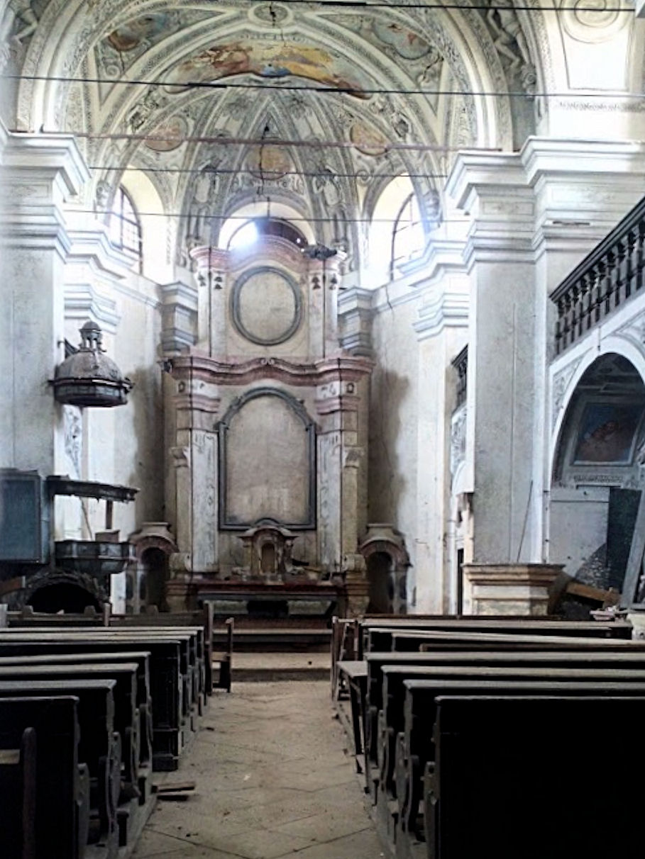 Zahořany church, interior