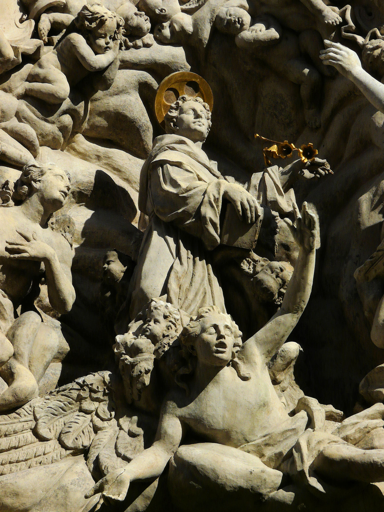 Baroque sculpture, Church of St James, Prague