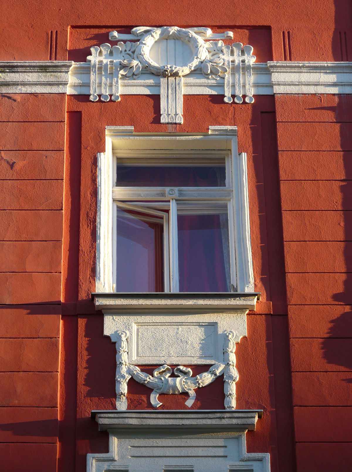 Art Nouveau decoration, Charkovska, Prague