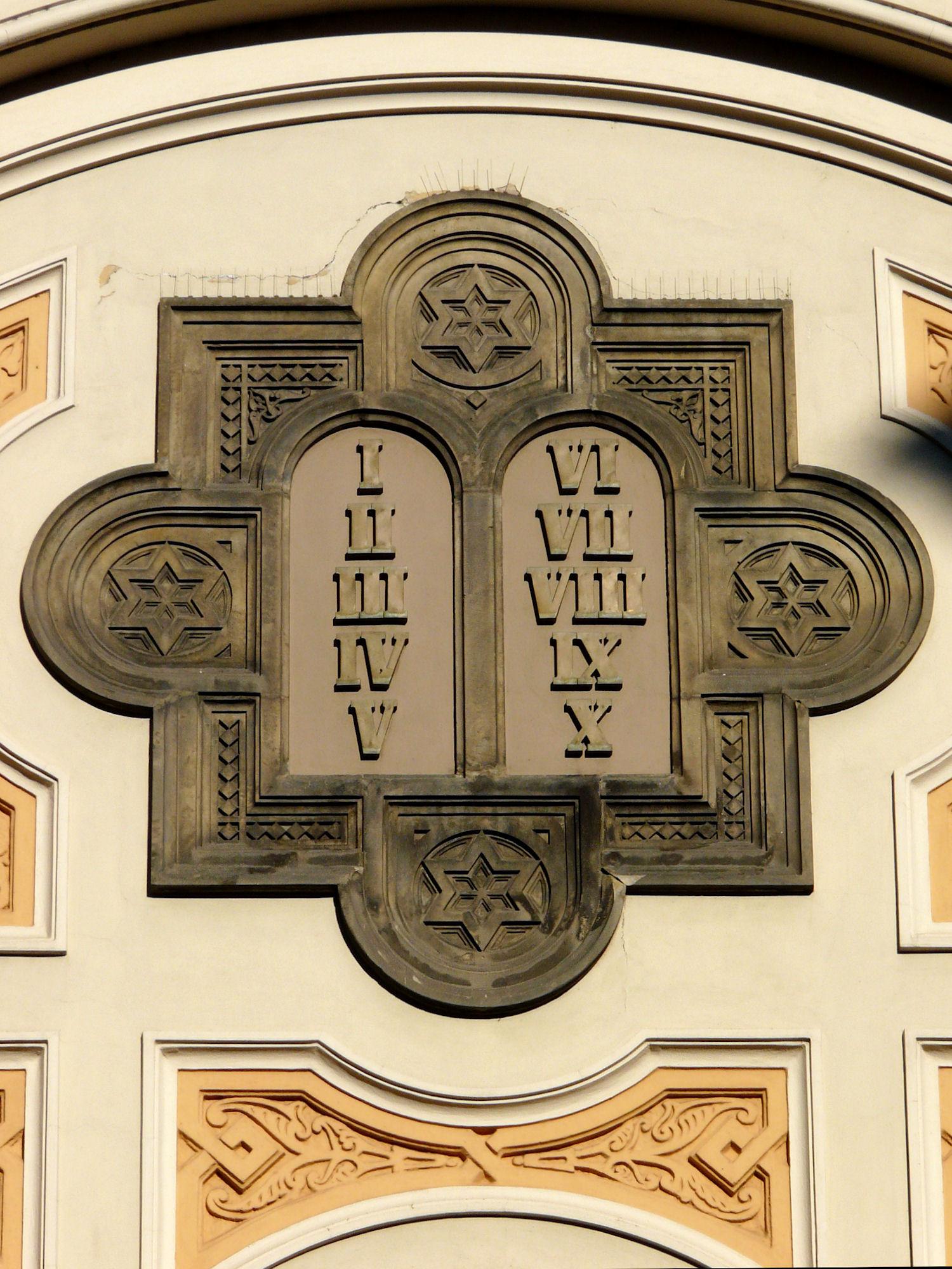 Spanish Synagogue, Prague, detail