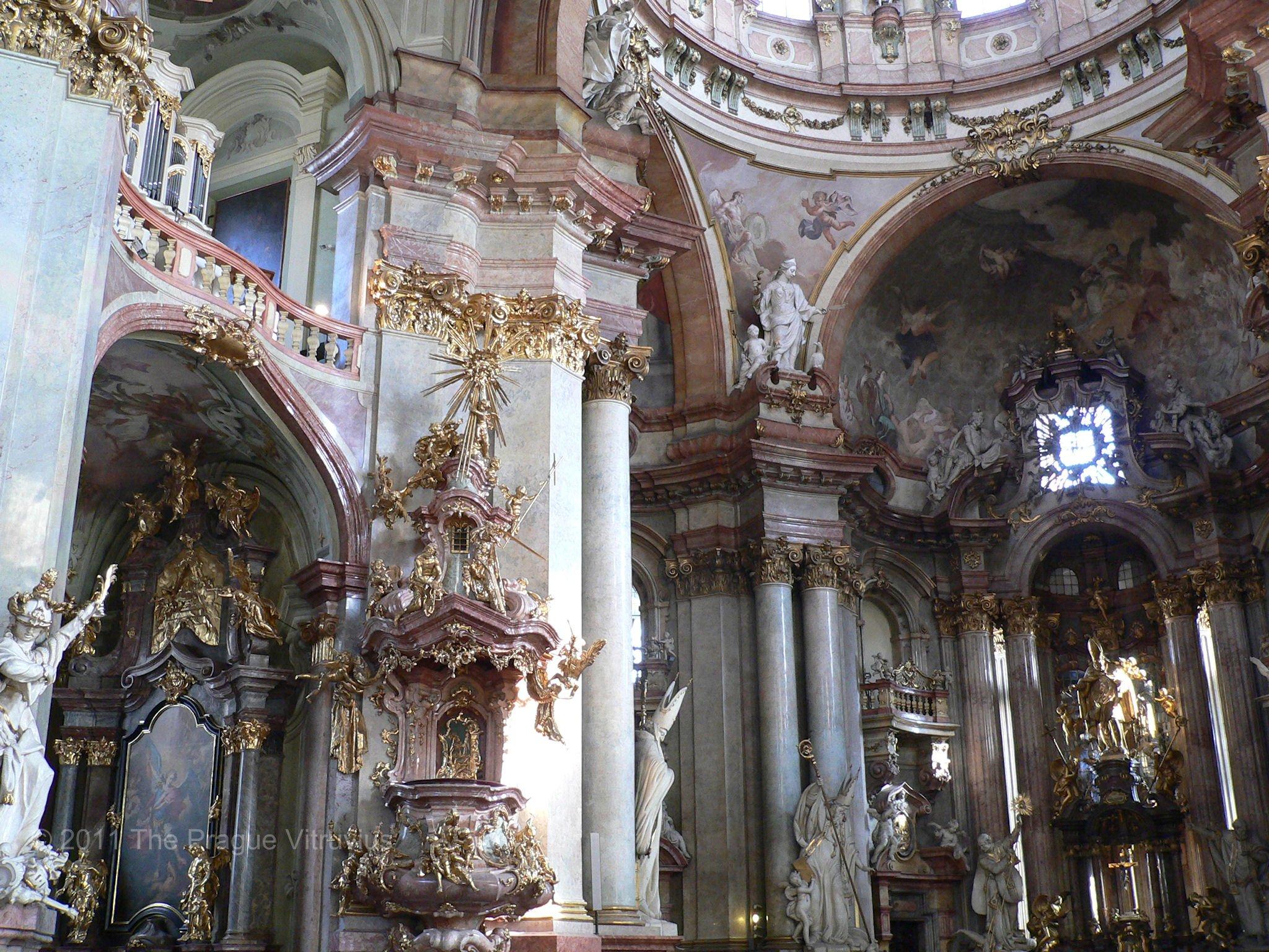 Saint Nicholas in Mala Strana, Prague, interior