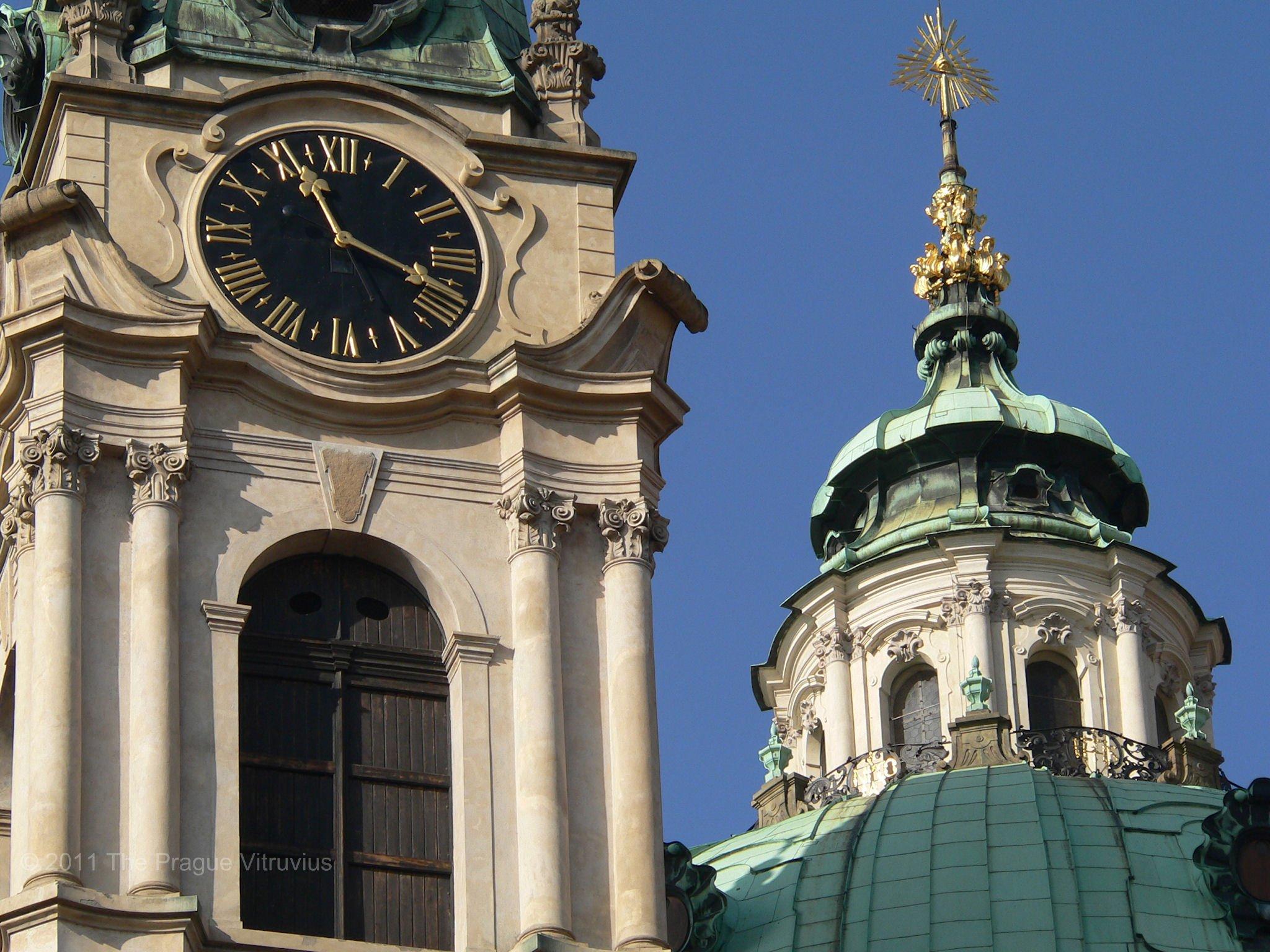 Saint Nicholas in Mala Strana, Prague, detail