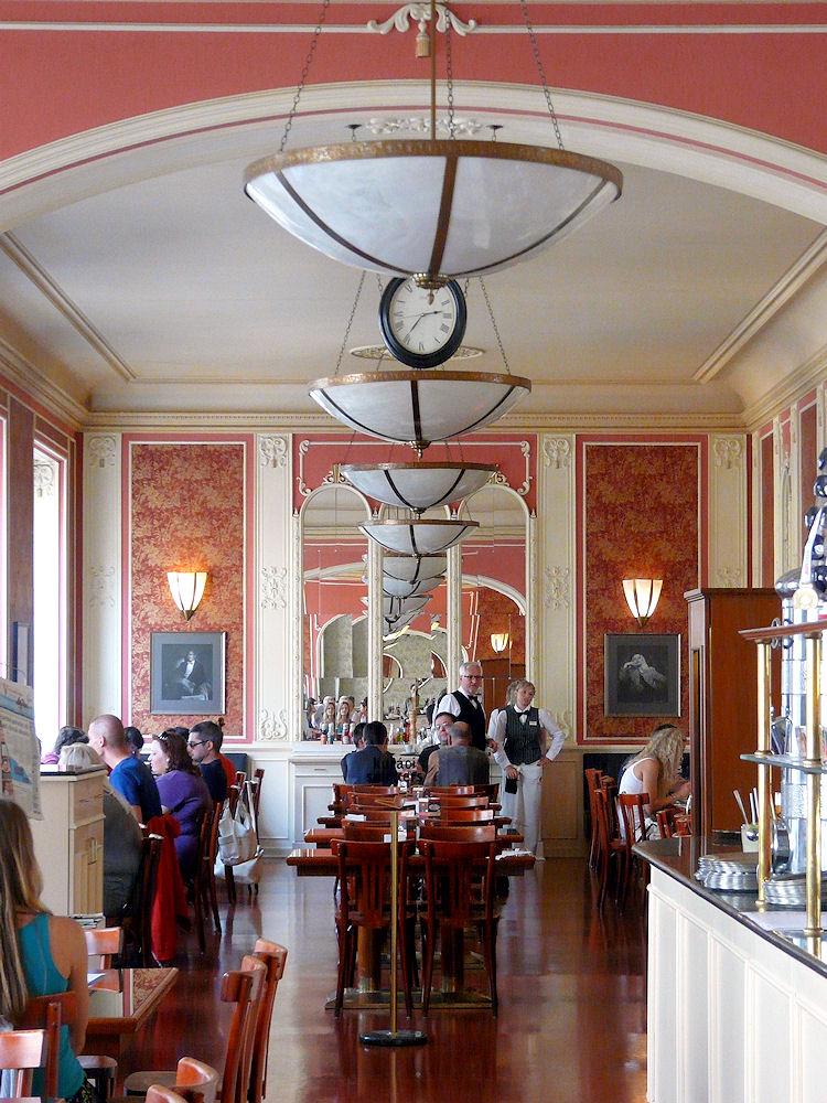 Cafe Louvre, Prague, interior