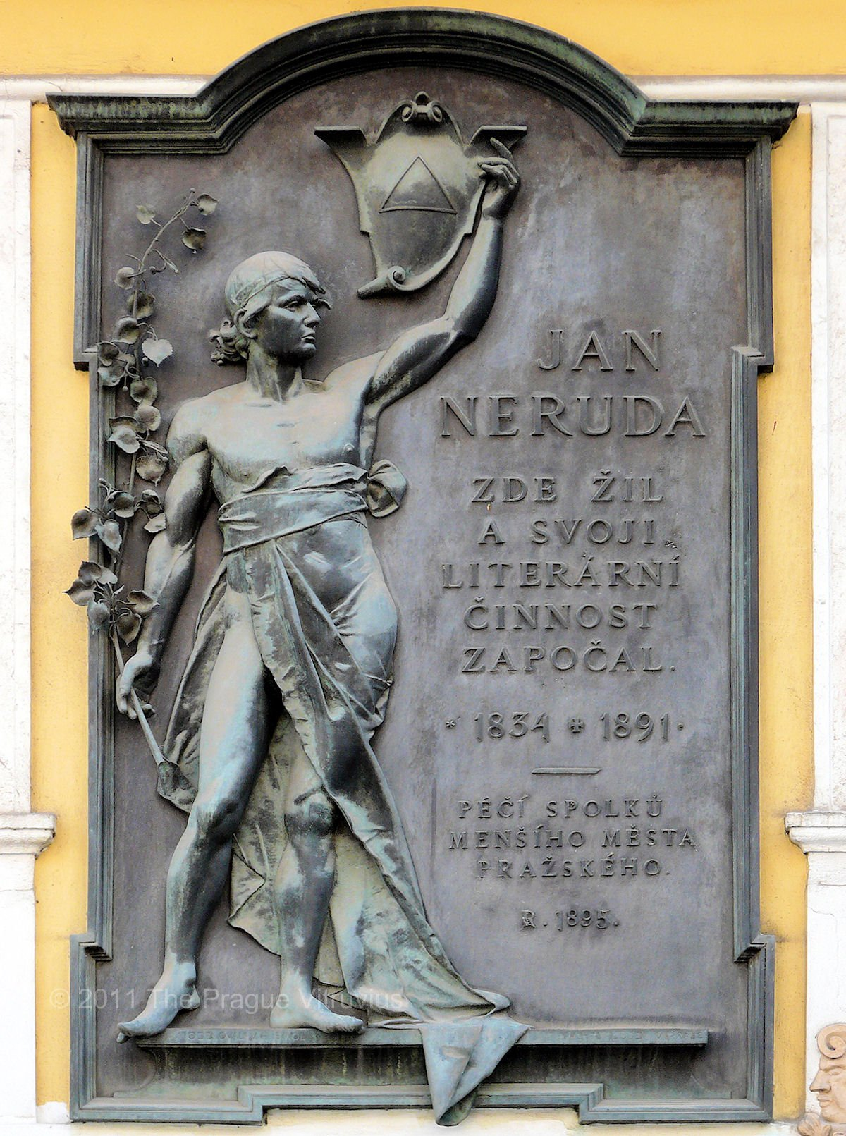Neruda monument in Prague