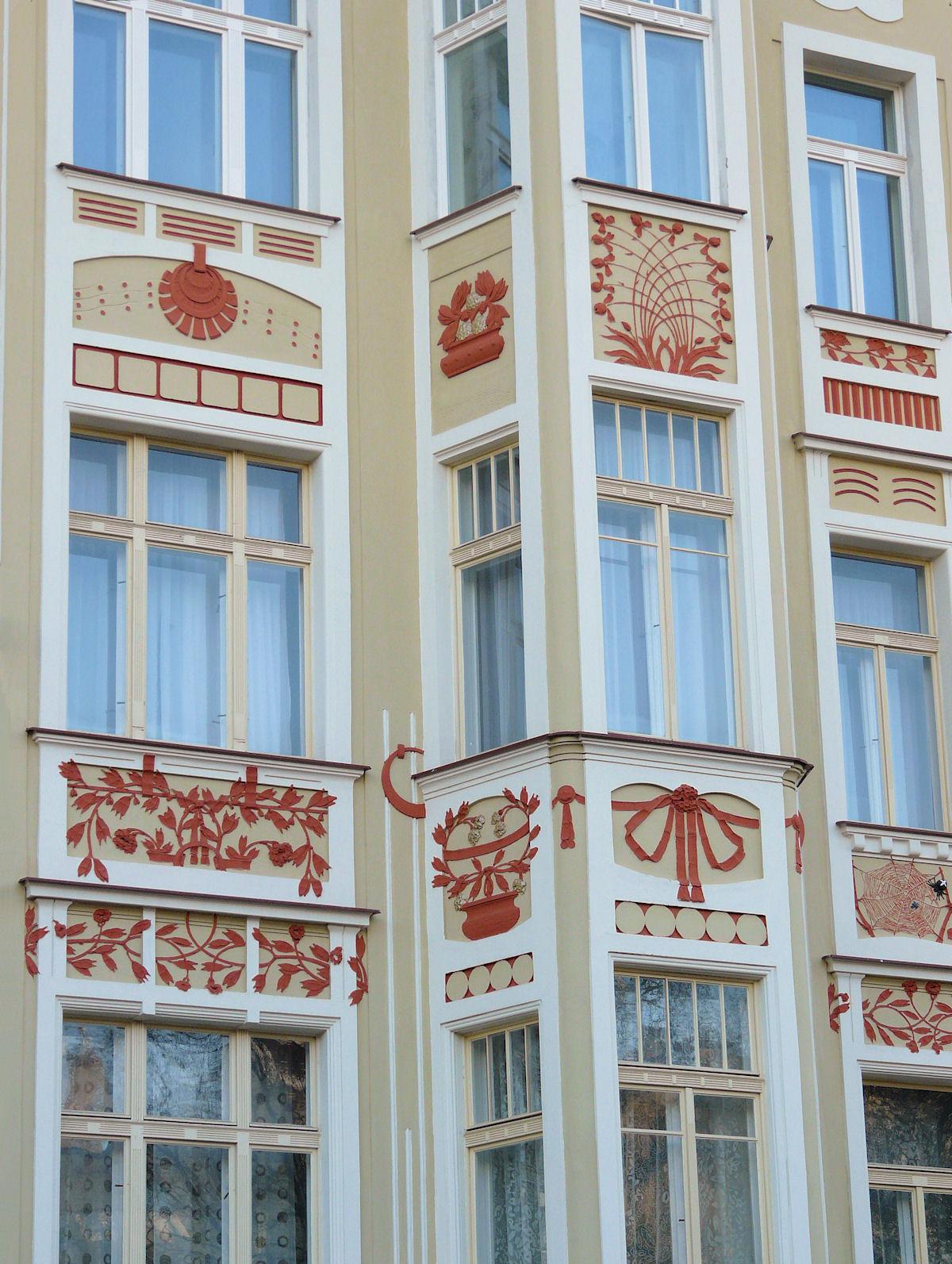 Polska street Prague facade