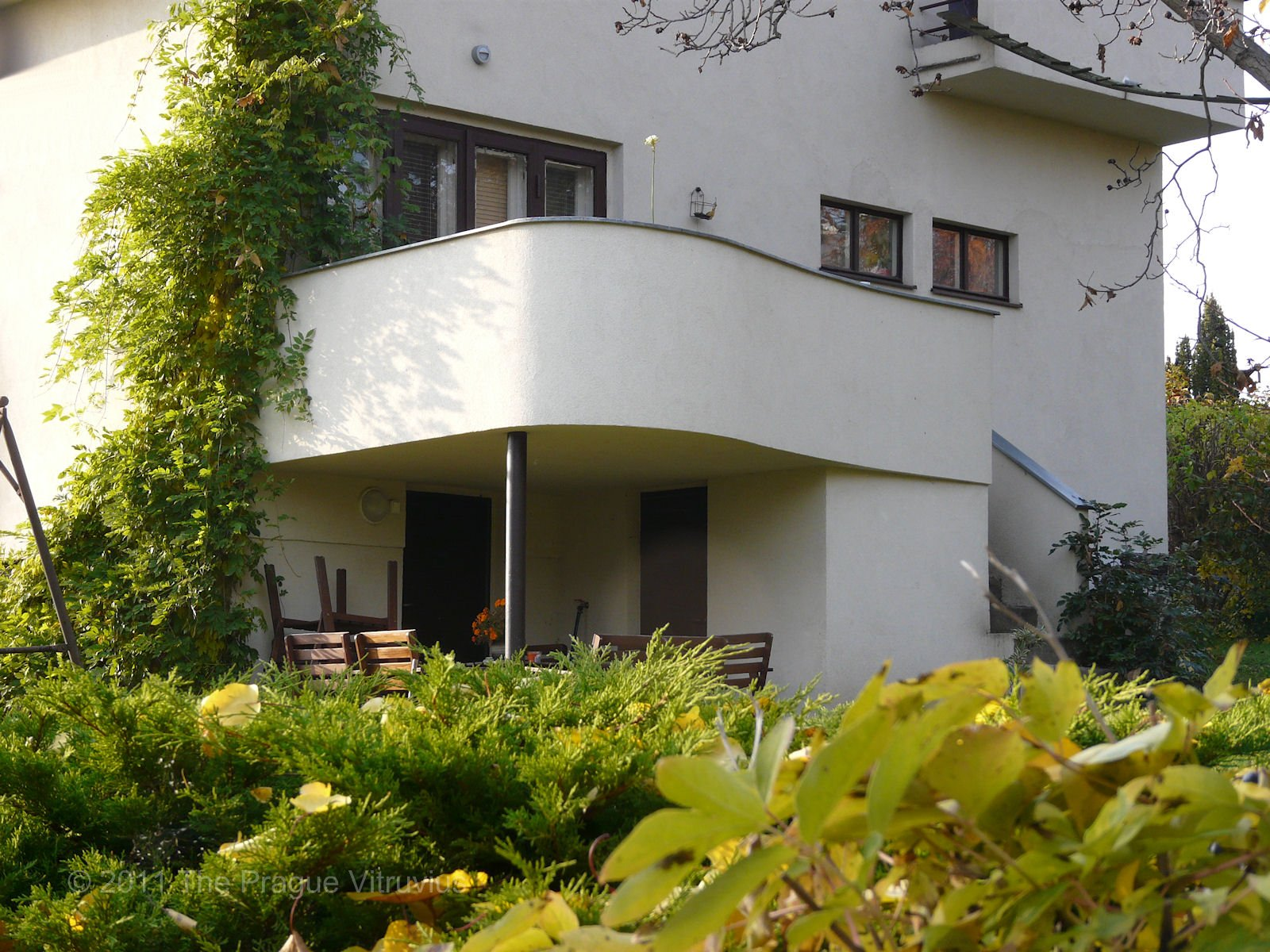 Modernist houses in Prague