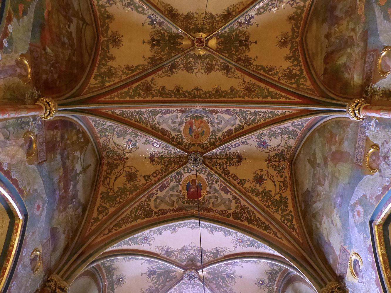 Interior ceiling, Vyšehrad basilica
